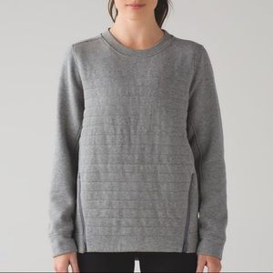 Lululemon fleece be true crew sweatshirt grey